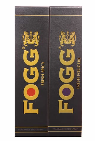 Fogg Combo Pack (Fresh Spicy 150 ml, Fresh Fougere 150 ml) Fragrance Body Spray pack of 2