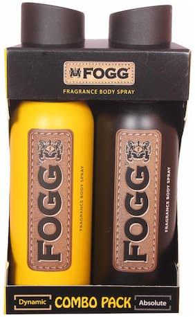 Fogg Dynamic 120 ml & Absolute 120 ml Body Spray (Pack Fo 2)