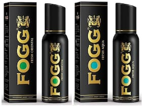 Fogg Fresh Oriental & Aqua Frangrance Body Spray - 150 ml each