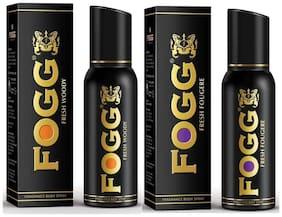 Fogg Fresh Woody & Fougere Fragrance Body Spray - 150 ml each