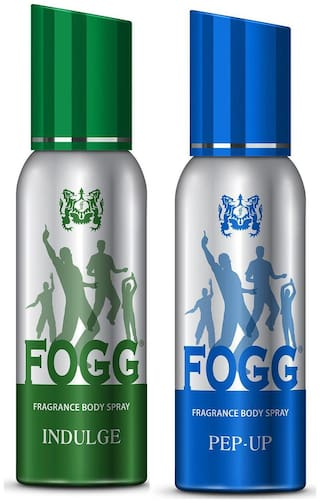 Fogg Indulge & Pep-Up Body Spray 120ml Each