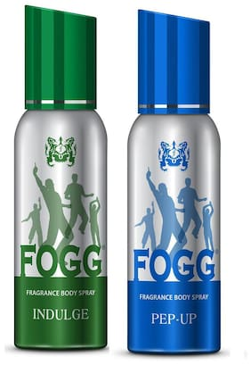 Fogg Indulge & Pep-Up Body Spray 120 Ml Each - For Men