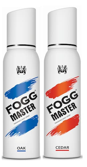Fogg Master Oak 150ml & Cedar 150ml Body Spray