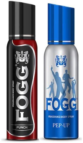 Fogg Punch 120 ml & Pep-up Body Spray 120ml (Pack of 2)