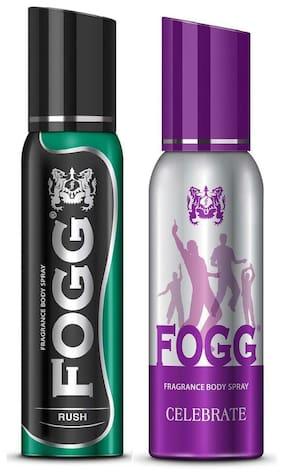 Fogg Rush & Celebrate Body Spray 120 Ml Each - For Men