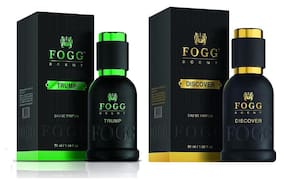 Fogg Scent Discover & Trump (Pack of 2) - For Men - 50ml Each