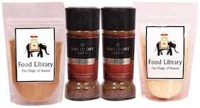 Food Library Combo of 2 Davidoff Rich Aroma + White Sugar & Brown Sugar 100g each