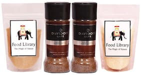 Food Library Combo of 2 Davidoff Espresso 57 + White Sugar & Brown Sugar 100g each
