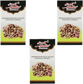 Food Studio Iranian Roasted & Salted Pistachio Kernels Pack Of 3 (250 G Each)