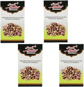 Food Studio Iranian Roasted & Salted Pistachio Kernels Pack Of 4 (250 G Each)
