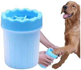 Foodie Puppies Foot Washing Cup  Pet Paw Cleaner  Portable Dog Washer With Feet Soft Silicone Bristlessmall (Colour May Vary)