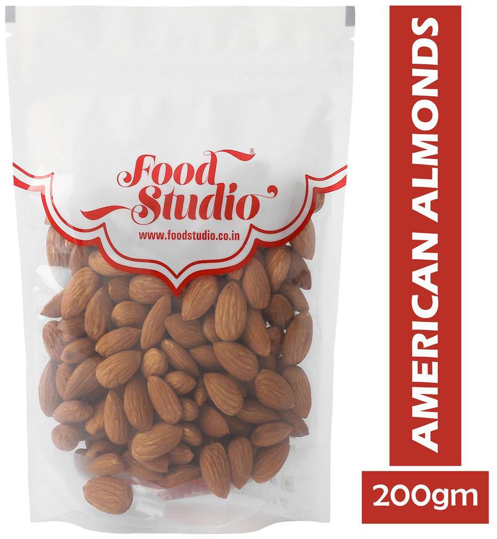 FoodStudio Premium Quality American Almonds - 200gm