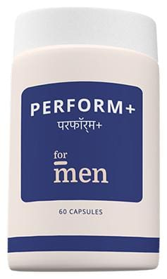 ForMen Perform+ Contains herbal extracts like Gingko biloba, Ashwagandha, Satavari, Safed Musli, Brahmi leaf Minerals like Zinc and Magnesium and Vitamins like Vitamin D3. Two capsules per day.