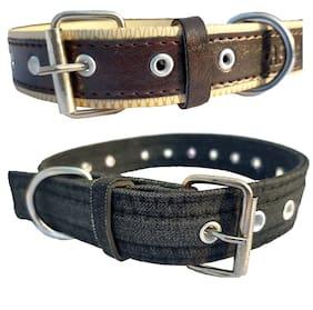 Forever99 Pet Shop Dog Collar Neck Belt /Military Grade Training Soft And Durable For Medium Dog Neck Belt Art 105 (Pack of 2)