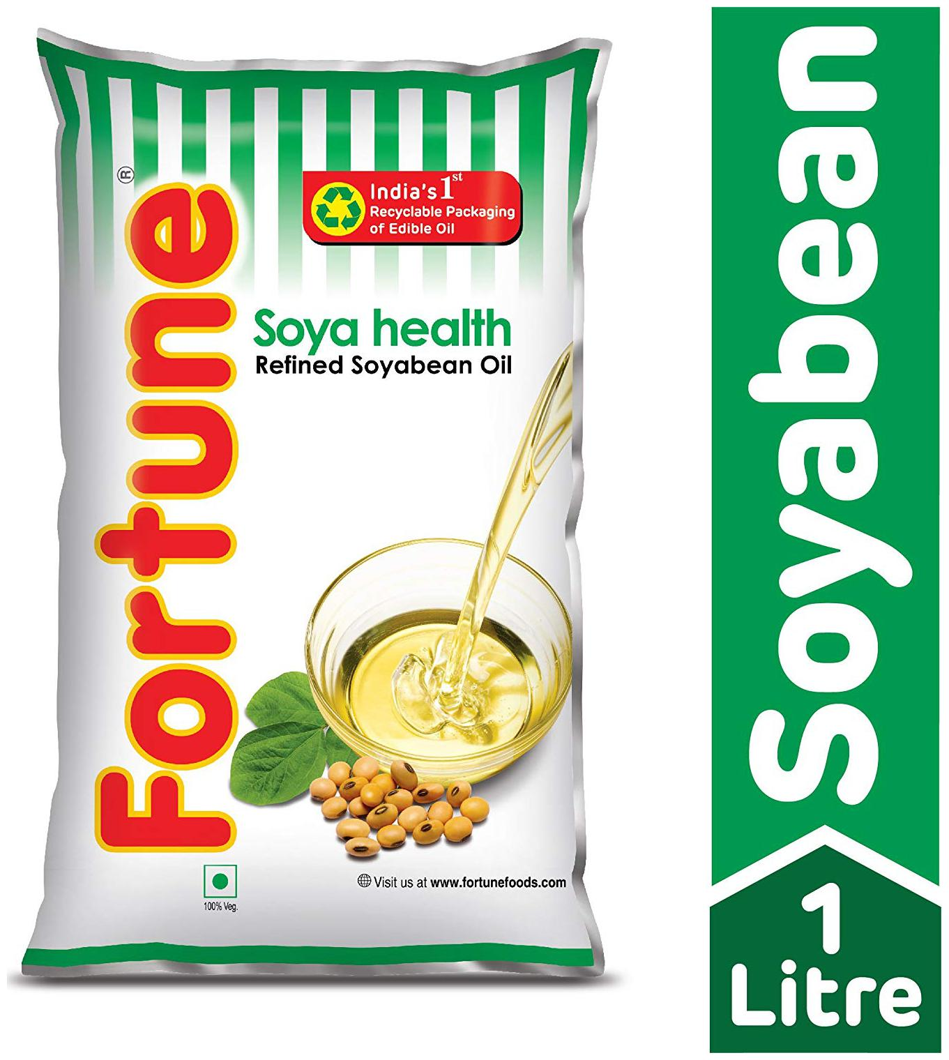 Fortune Refined Oil Soya Bean 1 ltr