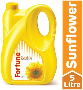 Fortune Sunflower Refined Oil - Sun Lite 5 L
