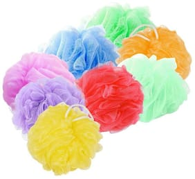 FOXSTON Nylon Bathing Body Cleaning Back Scrubber Sponge Loofah for Men and Women - (PACK OF 8, MULTICOLOUR)#5