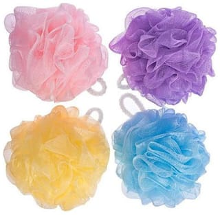 FOXSTON Nylon Bathing Body Cleaning Back Scrubber Sponge Loofah for Men and Women - (PACK OF 4, MULTICOLOUR)#7