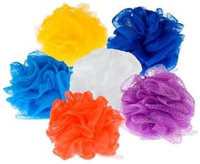 FOXSTON Nylon Bathing Body Cleaning Back Scrubber Sponge Loofah for Men and Women - (PACK OF 6, MULTICOLOUR)#3