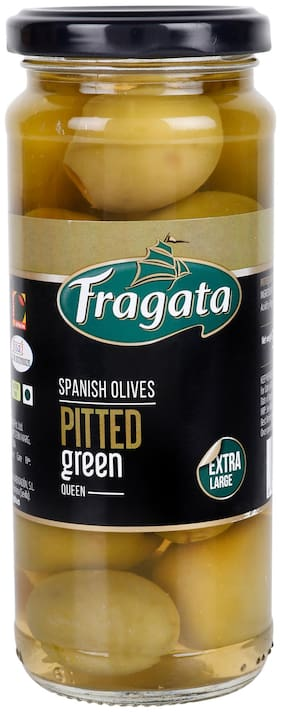 Fragata Pitted Green QUEEN Olives 340g(Pack of 1)