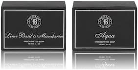 Fragrance & Beyond Lime Basil Mandarin & Aqua Soap Combo 125g (Pack of 2)
