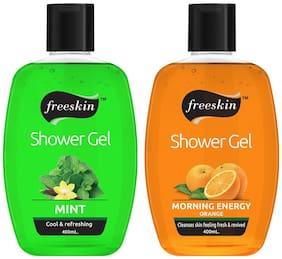 Freeskin Mint & Orange Shower Gel,400 ml (Pack Of 2)