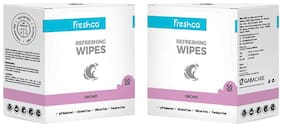 Freshca Refreshing Wet Wipes Single Sachet, Men & Women for Hand & Face in Orchid Fragnance with Paraben Free, Silicon Free & Alcohol Free 50pcs Each (Pack Of 2)