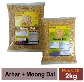 Freshco Arhar + Moong Yellow 1 kg (Pack of 2)