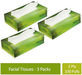 Freshee 100 Sheets 2 Ply Car Tissue Paper Box Pack Of 3