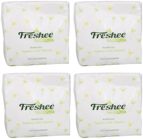 Freshee 100 Sheets 1 Ply Pack Of 4 Tissue Paper/Bacteria Resistant/Hygience And Fresh Tissue Made With 100% Virgin Fibre/Value Plus Range Of Disposable Tissue