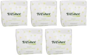 Freshee 100 Sheets 1 Ply Pack Of 5 Tissue Paper/Bacteria Resistant/Hygience And Fresh Tissue Made With 100% Virgin Fibre/Value Plus Range Of Disposable Tissue