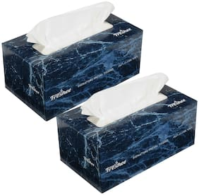 Freshee 2 Ply Facial Tissue Box - 100 pulls Pack of 2,Signature Range,Skin friendly,Fresh and Disposable Tissue Paper with 100% Virgin Fibre