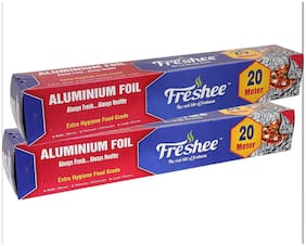 Freshee 20 ms 10.5 microns thick Aluminium Kitchen Foil Roll Pack of 2