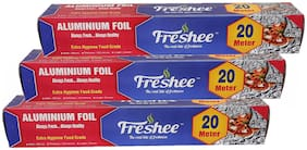 Freshee 20 ms 10.5 microns thick Aluminium Kitchen Foil Roll Pack of 3