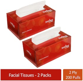 Freshee 200 Sheets 2 Ply Car Tissue Paper Box Pack Of 2