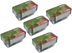Freshee 25 pcs Strong Disposable Aluminium Silver Foil Container 660ml (Pack of 5)