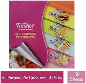 Freshee 50 Pre-Cut 220 x 250mm Aluminium Foil Sheets Pack of 3,Multipurpose use