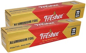 Freshee 72 ms 10.5 microns thick Aluminium Kitchen Foil Roll Pack of 2