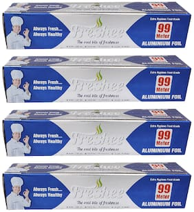 Freshee 99 ms 10.5 microns thick Aluminium Kitchen Foil Roll Pack of 4