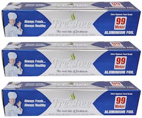 Freshee 99 ms 10.5 microns thick Aluminium Kitchen Foil Roll Pack of 3