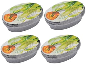 Freshee Aluminium Silver Foil Disposable Containers Pack of 4 x 10pcs