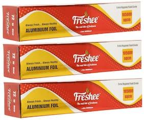 Freshee Aluminium Silver Kitchen Foil Roll Paper (105000sqcm) Pack of 3