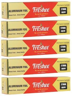 Freshee Aluminium Silver Kitchen Foil Roll Paper (177000sqcm) Pack of 5