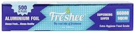 Freshee Aluminium Silver Kitchen Foil Roll Paper (66000sqcm) Pack of 1