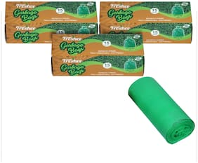 Freshee Compostable/Biodegradable Garbage Bag 17 x 19 Inch Trash Bag - 15 Bags- (Pack of 3)