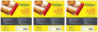 Freshee Greaseproof Paper 500 Pre Cut Sheets Non-Stick Food Paper 220mm x 305mm Packof 3;Multi-Purpose Organic Paper for Baking Food Wrapping (Pack Of 3)