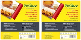 Freshee Greaseproof Paper 500 Pre Cut Sheets Non-Stick Food Paper 220mm x 305mm Packof 2;Multi-Purpose Organic Paper for Baking Food Wrapping (Pack Of 2)