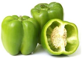 Fresho Capsicum - Green, Organically Grown 250g