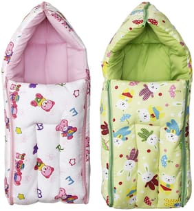 Fun Baby 3 in 1 Multi Usage Carry Bag (0-6 Months) Baby Bedding (Pack of 2)