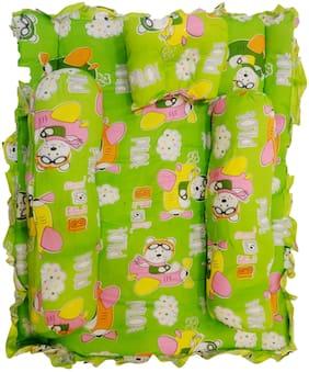 Fun Baby New Born Baby Green 4 pcs Bedding Set